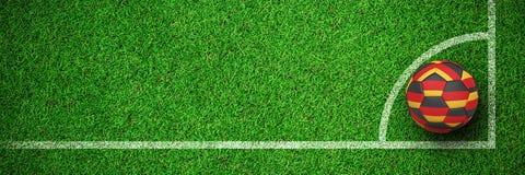 Image composée du football dans des couleurs allemandes Illustration de Vecteur