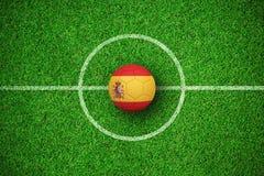 Image composée du football dans des couleurs de l'Espagne Illustration Libre de Droits