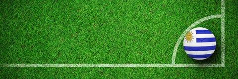 Image composée du football dans des couleurs de l'Uruguay Illustration de Vecteur