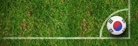 Image composée du football dans des couleurs de la Corée du Sud Photos stock
