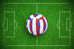 Image composée du football dans des couleurs françaises Illustration Stock