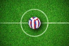 Image composée du football dans des couleurs françaises Illustration de Vecteur