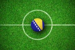 Image composée du football en couleurs de la Bosnie-Herzégovine Illustration Libre de Droits
