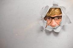 Image composée du hippie blond heureux 3d de sourire Photo libre de droits