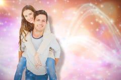 Image composée du portrait de jeunes couples de sourire ferroutant Photo libre de droits