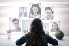 Image composée du portrait des gens d'affaires photographie stock