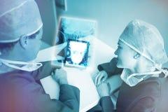 Image composée du rayon X humain 3d de crâne Image stock