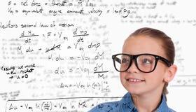 Image composée du sourire mignon d'élève Image stock