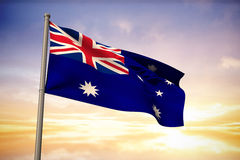 Image composée de drapeau national d'Australie Image stock