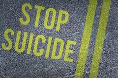 Image composée de suicide d'arrêt Photographie stock libre de droits