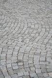 Image composed of blocks of paving the way Stock Image