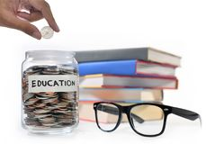 Saving money for education. Image on concept of saving money for education Royalty Free Stock Photo