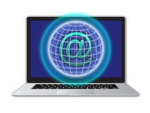 Secure email network computer Stock Images