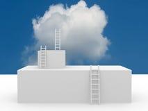 Image conceptuelle - échelle dans le ciel Photographie stock libre de droits