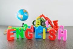 Image conceptuelle anglaise d'étude Image stock