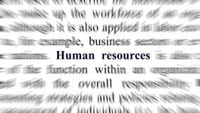 Image conceptuelle avec l'orientation sur les ressources humaines Photo libre de droits