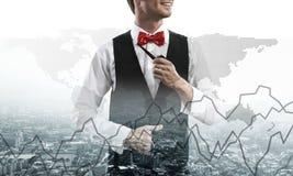 Image conceptuelle d'homme d'affaires réussi photos stock