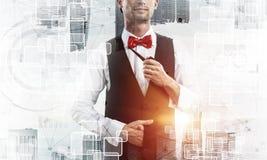 Image conceptuelle d'homme d'affaires réussi photos libres de droits