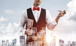 Image conceptuelle d'homme d'affaires réussi photo stock
