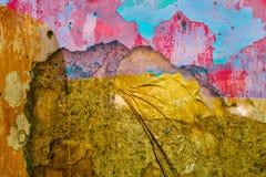 Image conceptuelle de double exposition avec des couleurs lumineuses image stock