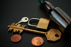 Image conceptuelle de serrure de véhicule activée par alcool image libre de droits