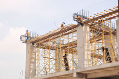 Construction site. Image of a concrete construction site Royalty Free Stock Photography