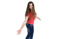 Image of confused teenage girl Royalty Free Stock Photos