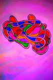 Taffy strip enclosing colors . royalty free illustration