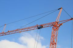 Construction crane with blue sky Royalty Free Stock Photos
