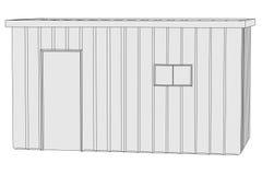 Image of construction shack Royalty Free Stock Image