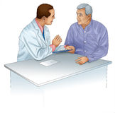 Doctor and patient. Image of a consultation between doctor and patient Stock Image