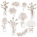 Image contournée des bouquets Photos libres de droits