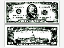 Image contours dollar bills Stock Images