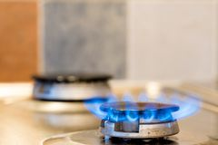 Cooker fire. Image of cooker fire representing gas use and consumption Royalty Free Stock Photos