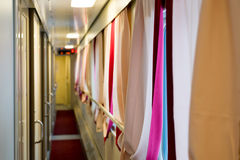 The image of corridor in compartment car Stock Photo