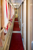 The image of corridor in compartment car Royalty Free Stock Photos