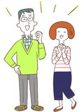 A couple who is happy stock illustration