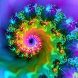 Image courante d'onde de fractale Image libre de droits
