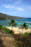 Image courante de baie de Hanauma, Oahu, Hawaï photos libres de droits