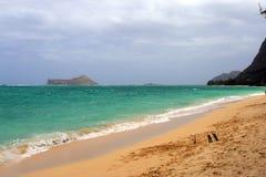 Image courante de baie de Maunalua, Oahu, Hawaï photos libres de droits
