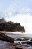 Image courante de baie de Maunalua, Oahu, Hawaï image stock