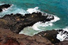 Image courante de baie de Maunalua, Oahu, Hawaï image libre de droits
