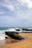 Image courante de baie de Maunalua, Oahu, Hawaï photo libre de droits