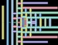 Image courante de la géométrie de fractale Image libre de droits