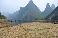 Image courante de paysage dans Yangshuo Guilin, Chine Photo libre de droits