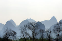 Image courante de paysage dans Yangshuo Guilin, Chine Photos stock