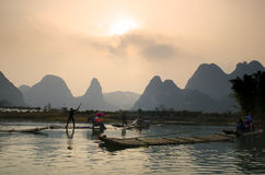 Image courante de paysage dans Yangshuo Guilin, Chine Photo stock