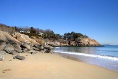 Image courante de plage de chant, le Massachusetts, Etats-Unis image libre de droits