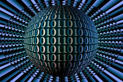 Image courante de sphère de code binaire Photo stock