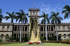 Image courante de statue du Roi Kamehameha, Honolulu, Hawaï Photographie stock libre de droits